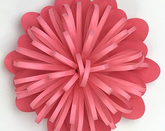 Fringe Flower Bud DIY Templates for Hand Cutting, Silhouette or Cricut Explore