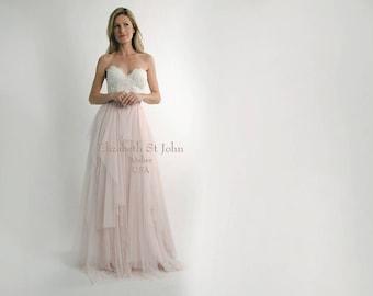 KENSINGTON SKIRT - 2018 Separates - hand tiered English tulle ballgown skirt - bridal separates - romantic bride | regular or plus sizes