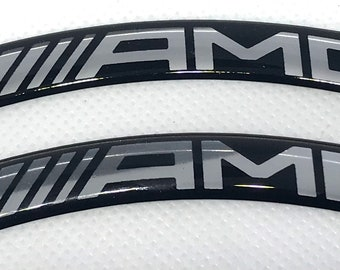 4 x Mercedes AMG Logo Curved 3D Domed stickers
