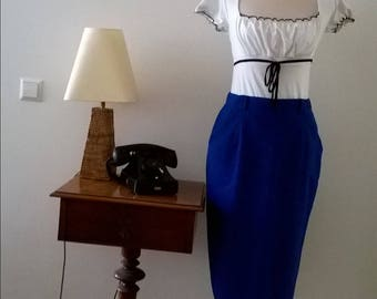 Vintage brush skirt, years 80