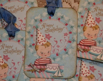 Boy Happy Birthday Gift Tags