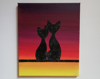 Couple of cats Brillantinosi on Sunset