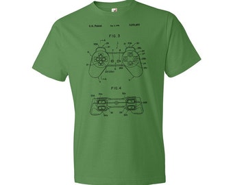 Original Playstation PS1 Controller T-Shirt, Playstation Controller, Sony Playstation, Video Game Controller, Gamer Gift, Patent, Patent Art