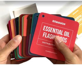 Essential Oil Flashcards - Distributor Edition In Young Living Colors