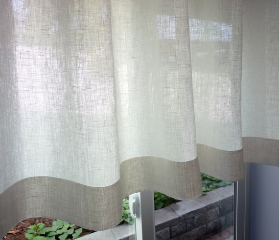 100 Flax Linen 38 Colors Custom Cafe Curtain Made To