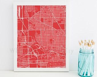 Wauwatosa Map Wauwatosa Art Wauwatosa Map Art Wauwatosa Print Wauwatosa Printable Wauwatosa City Art Wisconsin Art