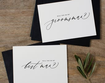 6 x Will You Be My Groomsman, Will You be My Best Man, Best Man Card, Groomsman Card, Wedding Party, Will You Be My Cards, Usher Card, K6