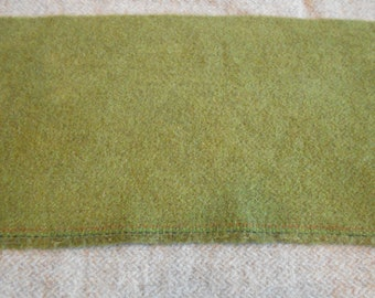 Hand dyed wool fabric - green sage wool - rug hooking - applique and crafts - primitive crafting - quilting - sewing - needle arts - 062