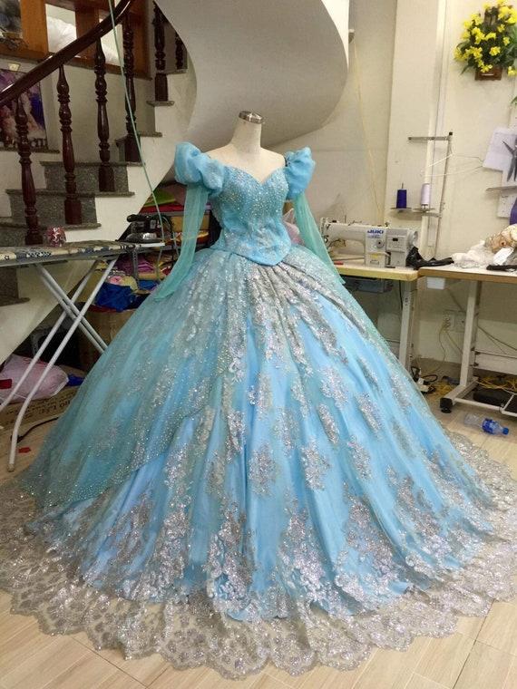 Sparkly Ariel Princess dress Disney Princess Little