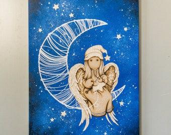 Star angel (45х65 cm) Oil