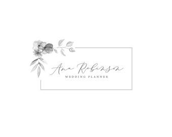 Floral Logo Design, Simple Flowers Logo Design, Custom Logo Design, Small Business Logo, Small Business Branding, Boutique Logo, Feminine