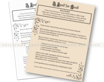 Instant download, Spell for Good, magick spells, Wiccan spell, printable spell book page, spell book, book of shadows pages, grimoire pages