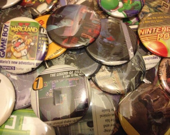 """2.25"""" Video Game buttons, pack of 5"""