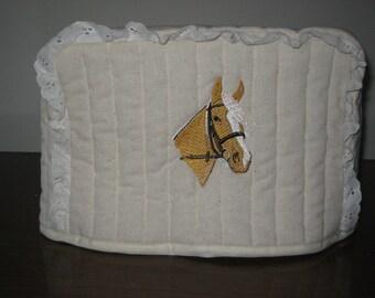 4 Slice Square Toaster Cover Horse Design
