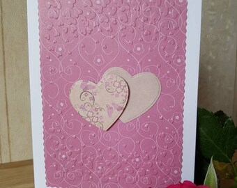 Twin Heart Greeting Card, Anniversary, Birthday, Valentine's Day, Thank you, or just because