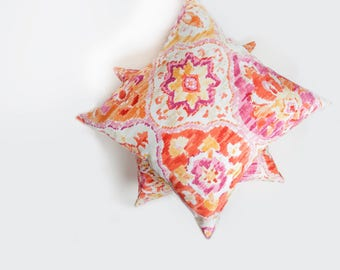 Orange Outdoor Pillow, Orange, Outdoor Pillow, Bright Color Pillow, Patio Decor, Pillow, Coral, Pink, Yellow