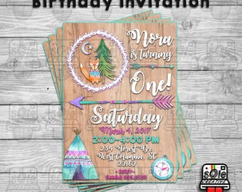 Woodland Birthday Invitation!