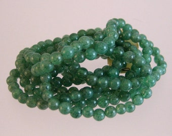 """Aventurine Beads 4mm on a Continuous 36"""" Strand"""