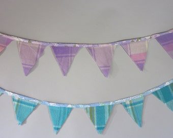 Retro Wool and Vintage Sheeting Bunting Flags