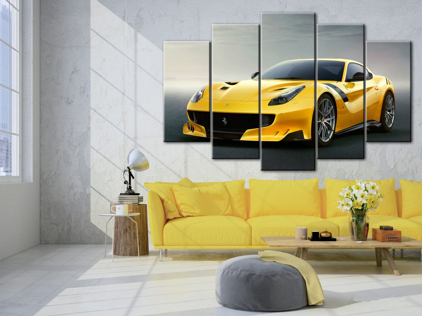 Ferrari F12 Berlinetta Supercar wall art Sport car poster