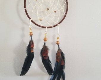 Brown Leather Dream Catcher