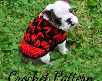 CROCHET PATTERN, Small Dog Sweater, Dog Sweater, Dog Sweater Pattern, Small Dog, Small Dog Clothes, Crochet Dog Sweater, Crochet Sweater