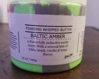 Foaming Whipped Body scrub - Moisturizing Sugar Scrub, Exfoliating Scrub, 16oz, DivineScentz