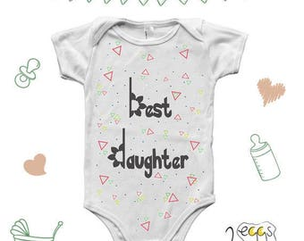 Best daughter onesie, newborn girl coming home outfit spring, summer baby girl clothes, hipster baby girl clothes, summer baby outfit