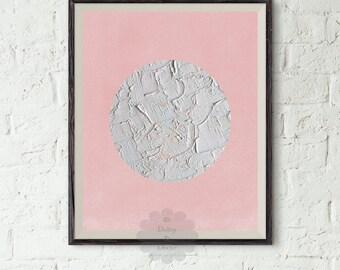 Geometric art printable - Abstract Art, Modern Art Print, Pink Art, Circle Art, Abstract Modern Print, Minimalist Art, Digital Download