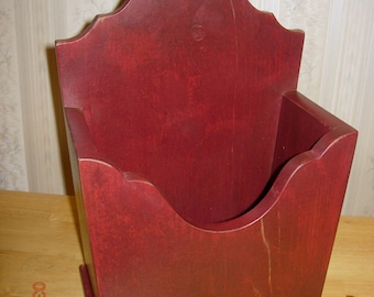 Primitive Candle Flower Wall Box - Home Decor - Color Choice - Made to Order