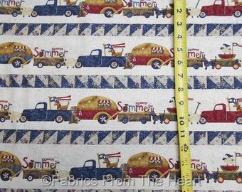 Spirit of America Pickup Trucks Teardrop Campers BY YARDS Henry Glass Fabric