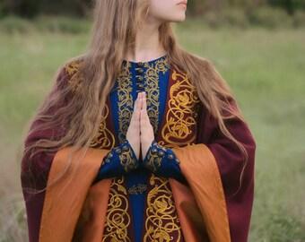 Medieval cloak Elven cloak King's cloak Medieval costume Costume party Renaissance cloak Mantle Wool cloak Fairy cape Natural fabrics