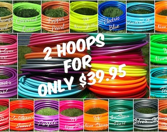 "Special 2 for 40 Colored 3/4"" PolyPro Hula Hoops - You Choose Color and Size for the Hoop"