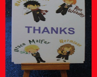 Harry Potter notes, Harry Potter cards , Harry Potter thank you card package of 10