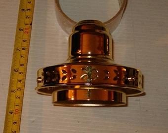 Brass Colored Lamp Light Socket Holder, Vintage Lamp Parts