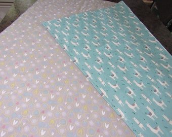 Summer Baby Blanket,  Llamas,  42 inches by 36 inches