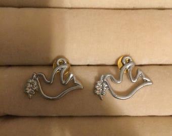 Silver Dove Earrings