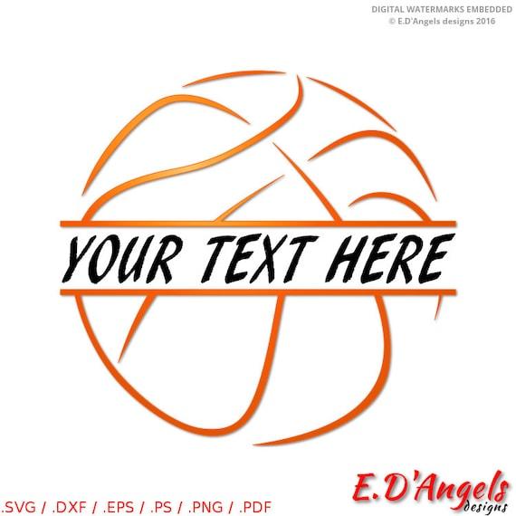 Basketball svg Basketball monogram Split monogram svg