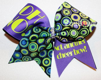 Oh No, Not Another Cheer Bow -  Cheer Allstar Bow by FunBows !