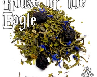 House of the Eagle - loose leaf green tea, blueberry mint cheesecake, Harry Potter gift, nerd, sorting hat, Rowena Ravenclaw, fandom tea
