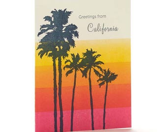 A2-164 - Palm Trees-  Note Card