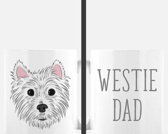West Highland White Terrier Mug | Westie Dad | Dog Dad Gift | Cute Dog Mug | Dog Lover Gift | Father's Day Gift