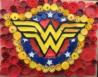 Wonder Woman insignia symbol art