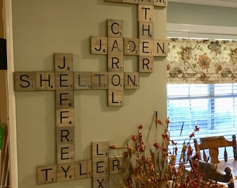 Family Scrabble Tiles
