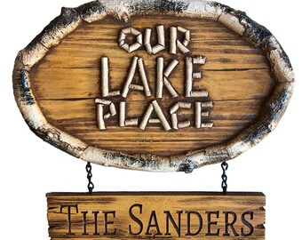 Our Lake Place Personalized Sign