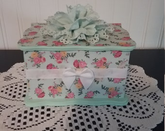Floral Green Jewelry Box