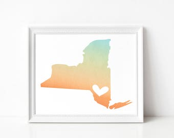 New York State Art Print
