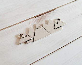 Silver Connector Link Connector Pendant Mountains Pendant Silver Mountain Pendant Link Pendant The Mountains Are Calling