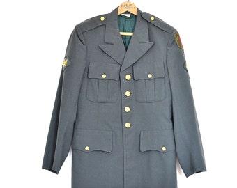 Vintage Army Jacket 1st Armoured - Military Dress Steampunk Uniform Coat - Formal Military Jacket -