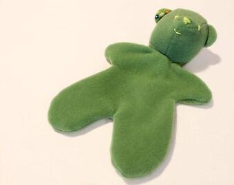 Cuddly soft teddy bear fleece: moss green